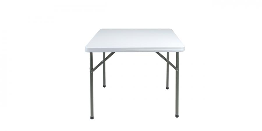 დასაკეცი ბარის მაგიდა პლასტიკური თეთრი