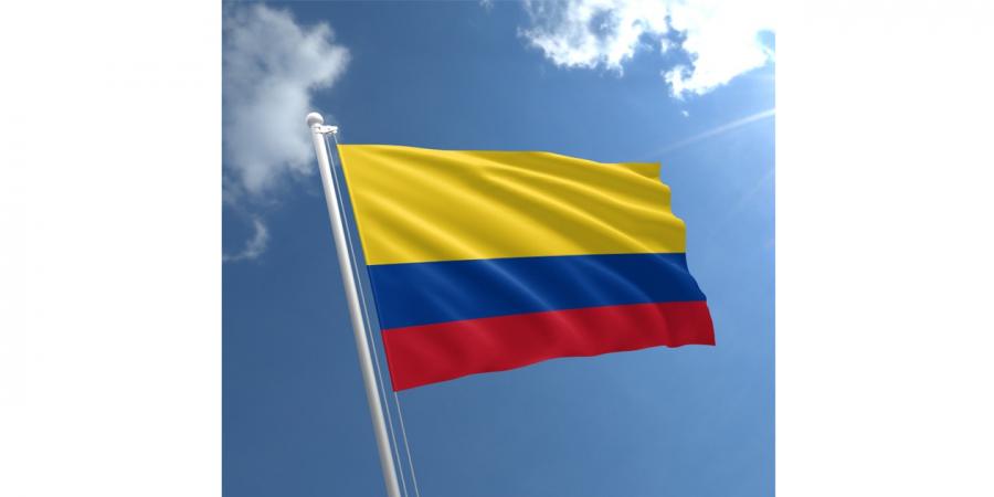 დროშა ნაჭრის კოლუმბია, 90X150სმ.
