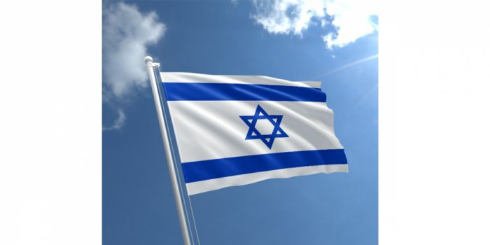დროშა ნაჭრის ისრაელი, 90X150სმ.