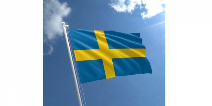 დროშა ნაჭრის შვედეთი, 90X150სმ.