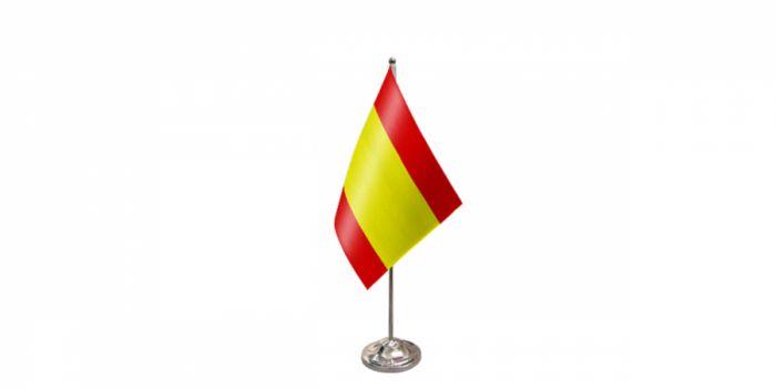 სამაგიდე დროშა ესპანეთი, 15X22.5სმ.