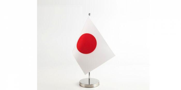 სამაგიდე დროშა იაპონია, 15X22.5სმ., ორმაგი ატლასი, FP-9151240