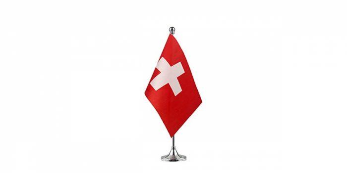 სამაგიდე დროშა შვეიცარია, 15X22.5სმ.