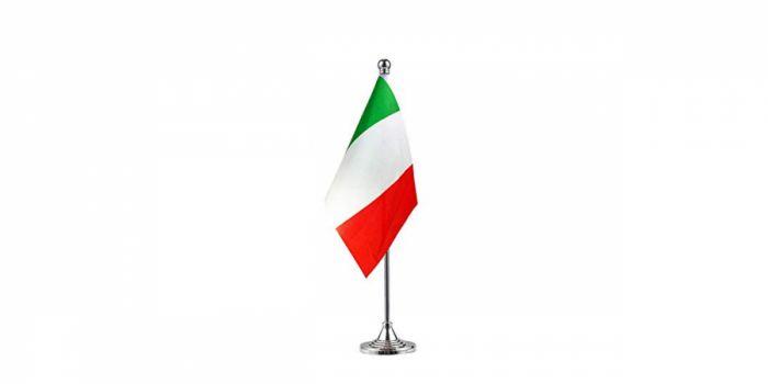 სამაგიდე დროშა იტალია, 15X22.5სმ.