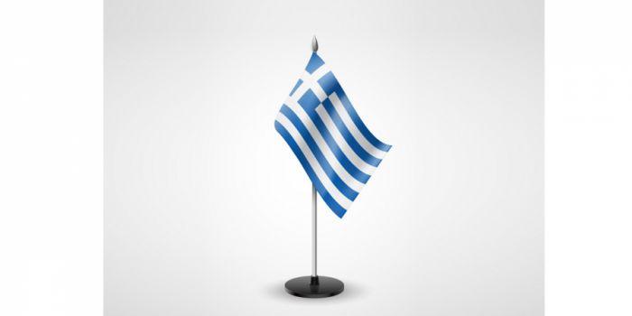 სამაგიდე დროშა საბერძნეთი, 15X22.5სმ.