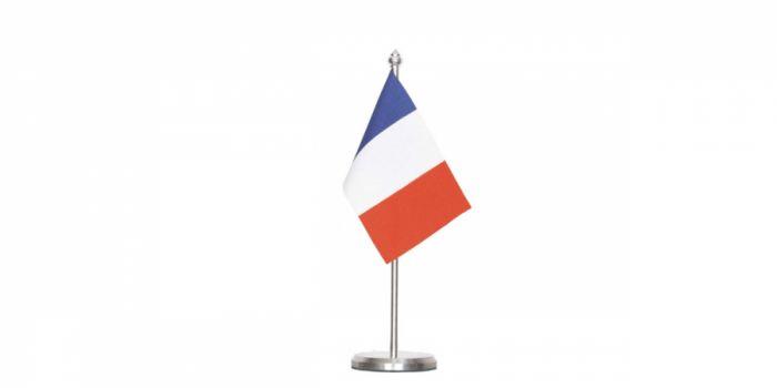 სამაგიდე დროშა საფრანგეთი, 15X22.5სმ.