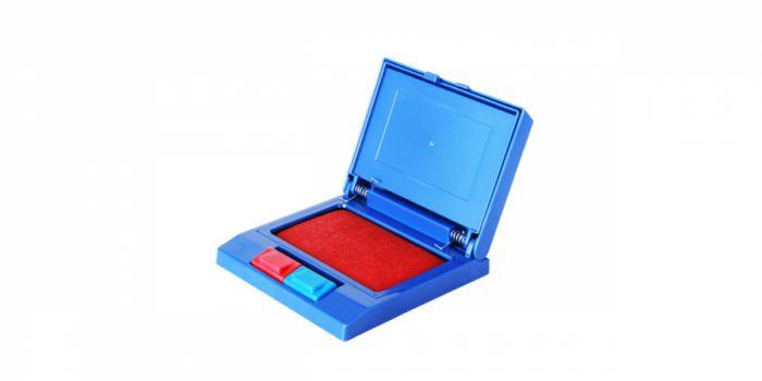 ბეჭდის ბალიში, ლურჯი/ წითელი, Deli