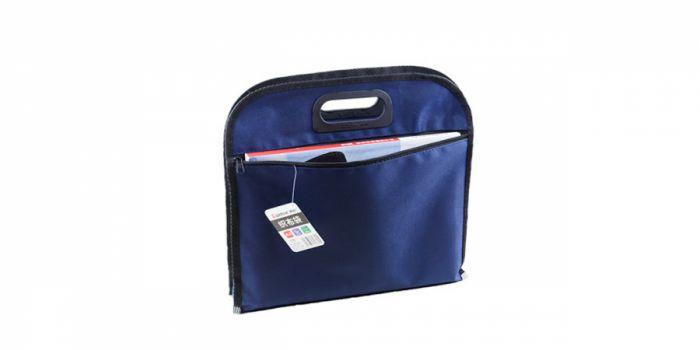 ჩანთა ნაჭრის B4, სახელურით, ლურჯი, Comix