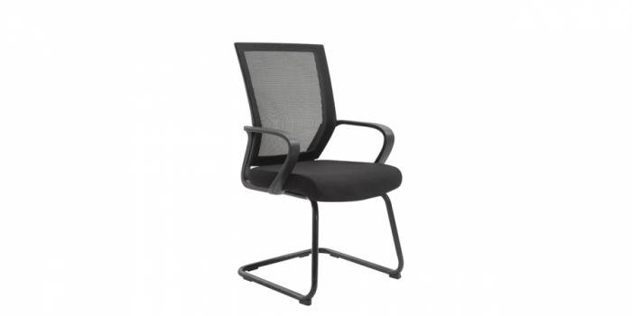 საკონფერენციო სკამი ბადის, შავი