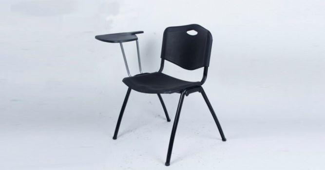 საოფისე სკამი პლასტიკური, დაფით