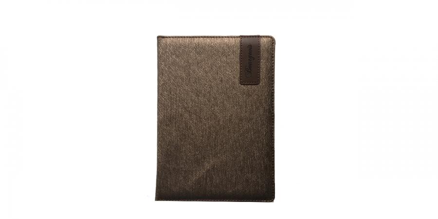 ბლოკნოტი А5, 80 დაწერტილებული ფურცლით, ტყავის ყდით
