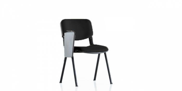 სკამი მოსაცდელი დაფით ტყავის ზედაპირით