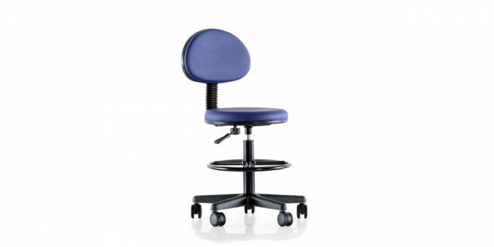 სკამი სამედიცინო ტყავის ზედაპირით, MEGA 200 P, ანტისტატიკური