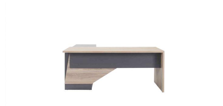 მაგიდა 180x179x75სმ., SMART, მისადგმელი თაროებით და ტუმბოთი