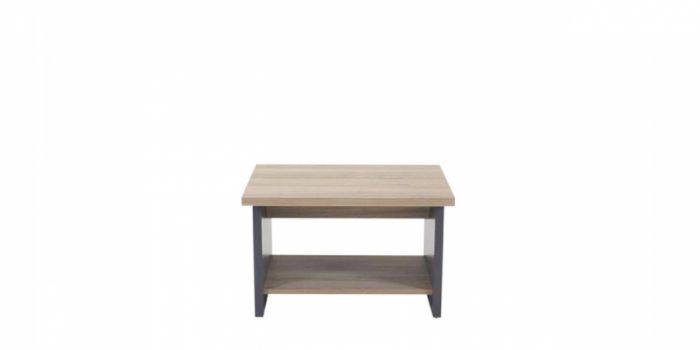 ჟურნალის მაგიდა SMART, ხის ფეხით, მუხა/ანტრაციტი