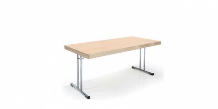 დასაკეცი მაგიდა, 160x80x75სმ., ხის ზედაპირით