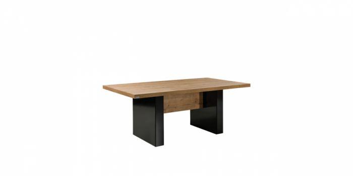 საკონფერენციო მაგიდა, მუხა/შავი