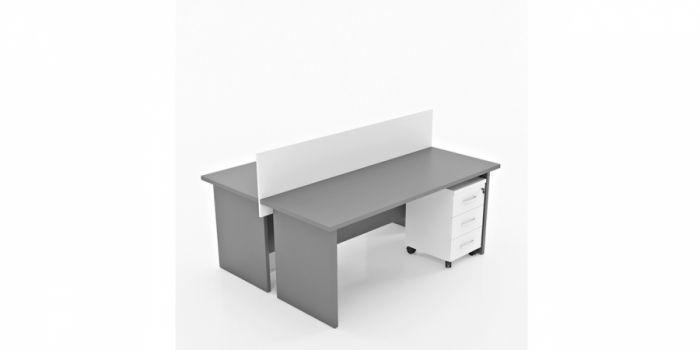 ორმხრივი მაგიდა AGENA, გამყოფით, ორ ადგილიანი