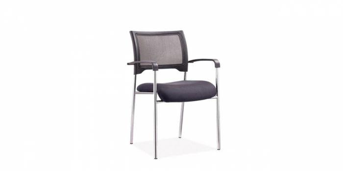 სკამი ბადის საზურგით, ნაჭრის დასაჯდომით