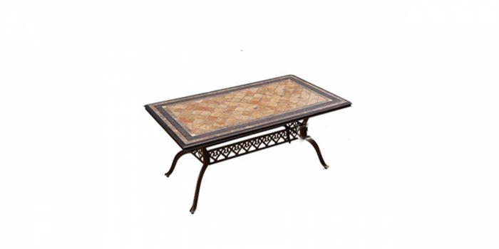 მაგიდა ჭედური მეტალის, ბრინჯაოსფერი