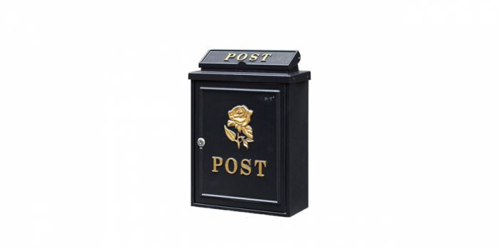 საფოსტო ყუთი მეტალის, შავი