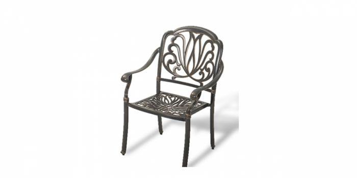 სკამი სახელურით ჭედური, შავი