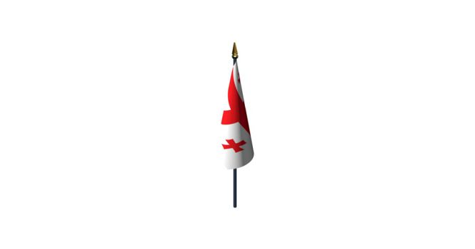 სამაგიდე დროშა ორმაგი ატლასის, საქართველო