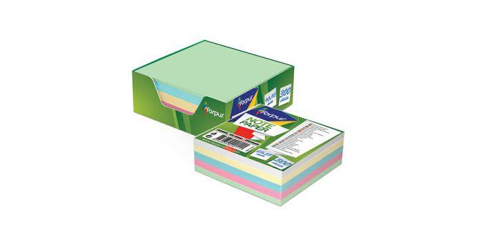 ჩასანიშნი ქაღალდი ყუთით, 90x90მმ, 300 ფურცელი