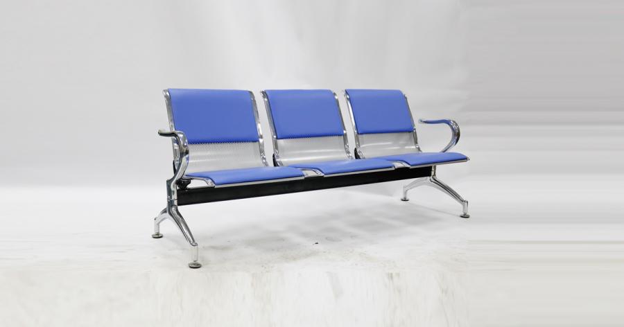 მოსაცდელი სკამი მეტალის, 3 ადგილიანი