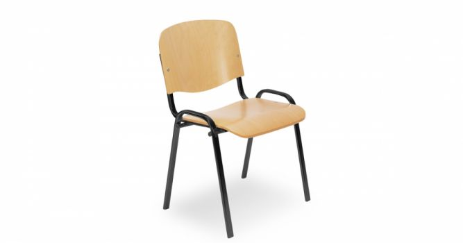 სასკოლო სკამი ხის ზედაპირით