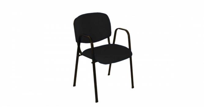 საოფისე სკამი ნაჭრის, სახელურით