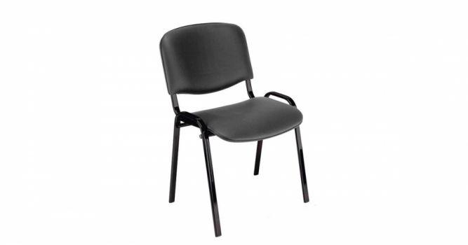 საოფისე სკამი ტყავის ზედაპირით