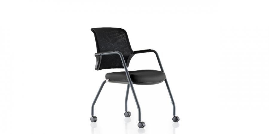 საოფისე სკამი გორგოლაჭზე, ნაჭრის ზედაპირით