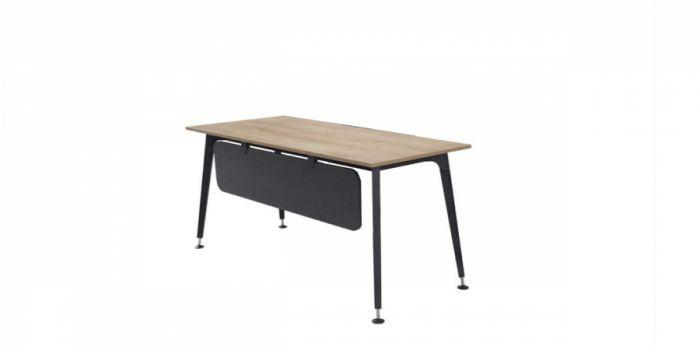 მაგიდა LEGOLD PS01, მეტალის ფეხით, მუხა/ანტრაციტი