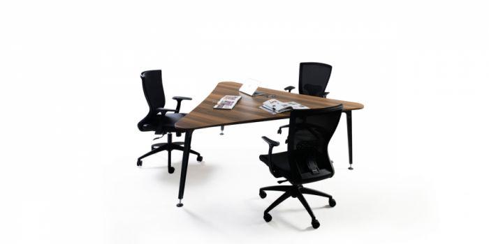 საკონფერენციო მაგიდა LEGOLD LMS01, მუქი კაკალი