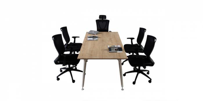 საკონფერენციო მაგიდა LEGOLD LMS03,  მუხა/ანტრაციტი
