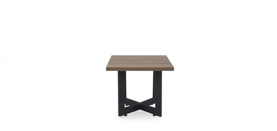 ჟურნალის მაგიდა HYPNOZ, მეტალის ფეხით, ღია ნაცრისფერი ხე/ანტრაციტი