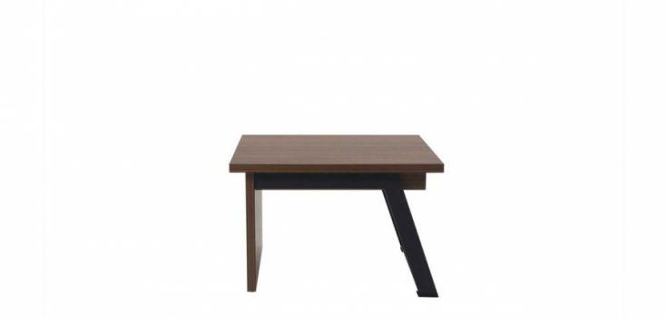 ჟურნალის მაგიდა FLAT, ხის და მეტალის ფეხით, ტექტონა