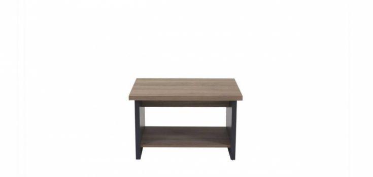 ჟურნალის მაგიდა SMART, ხის ფეხით, ნაცრისფერი ხე/ანტრაციტი