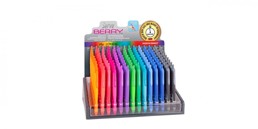 კალამი გელიანი Serve-BERRY Soft, წვერი: 0.7მმ., ღილაკზე