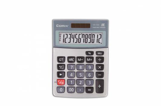 კალკულატორი, 12 თანრიგიანი, 14.6x10.3x2.7სმ.,  ღია ნაცრისფერი