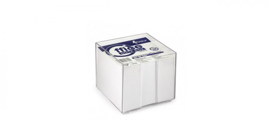 ჩასანიშნი ქაღალდი თეთრი, გამჭვირვალე პლასტმასის ყუთში, 800 ფურცელი