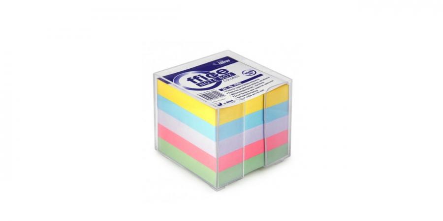 ჩასანიშნი ქაღალდი ფერადი, გამჭვირვალე პლასტმასის ყუთში, 800 ფურცელი