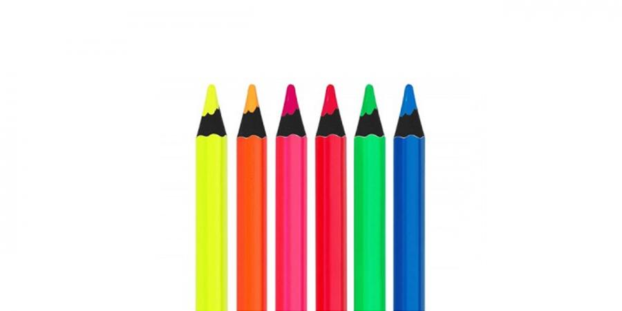 ფერადი ფანქარი, 6 ფერი, FATIH NEON JUMBO,  შავი ხის ნეონი