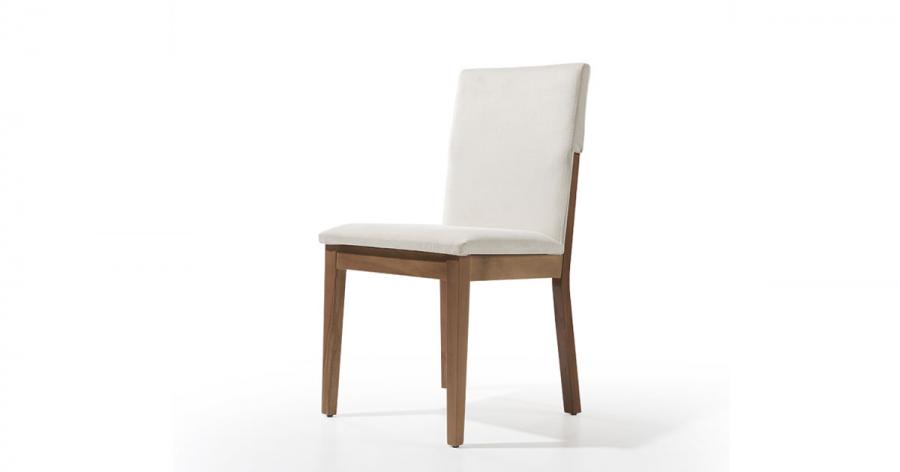 სასადილოს სკამი  ნაჭრის ზედაპირით