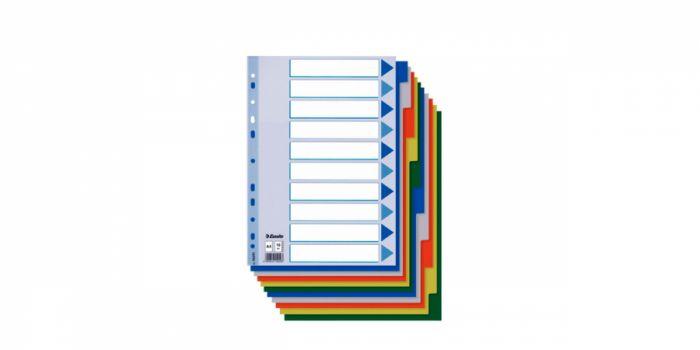 დივაიდერი A4, 10 ფერი, პლასტიკური, Esselte