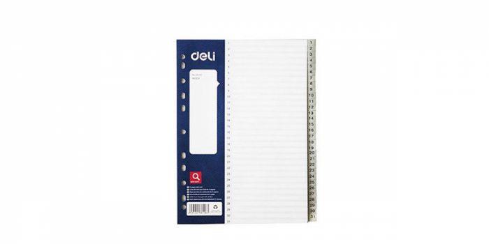 დივაიდერი A4, 31 ციფრი, პლასტიკური, Deli