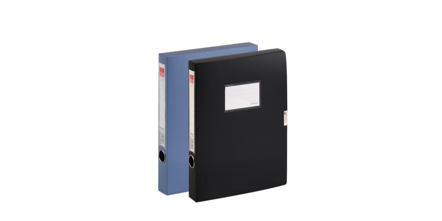 სასაბუთე ყუთი A4, პლასტიკური, 0.8მმ., შავი, Comix