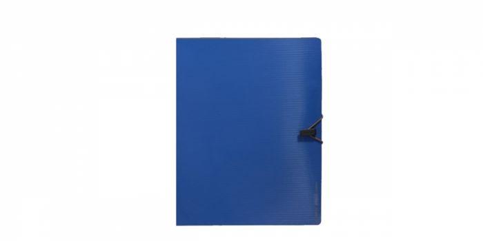 საქაღალდე A4 პლასტიკური, რეზინით, 6 ფაილით, ლურჯი, Comix
