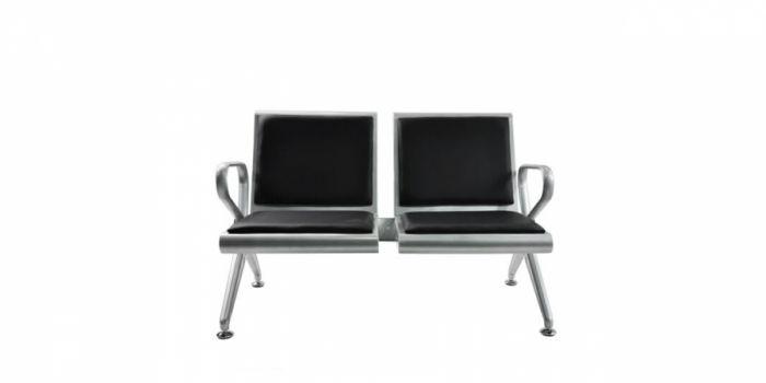 მოსაცდელი სკამი მეტალის, 2 ადგილიანი